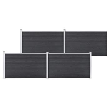 vidaXL Vrtna ograda od WPC-a 699 x 106 cm siva