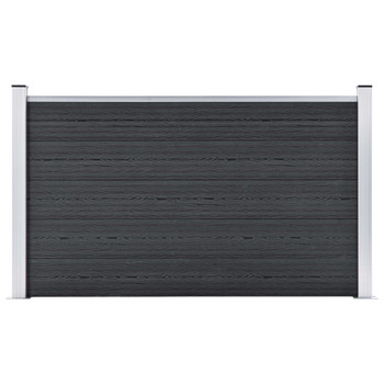 vidaXL Vrtna ograda od WPC-a 872 x 106 cm siva