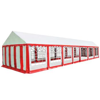 vidaXL Vrtni šator od PVC-a 6 x 14 m crveno-bijeli