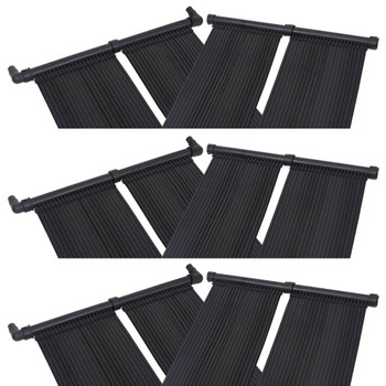 vidaXL Solarna ploča za grijanje bazena 6 kom 80 x 310 cm