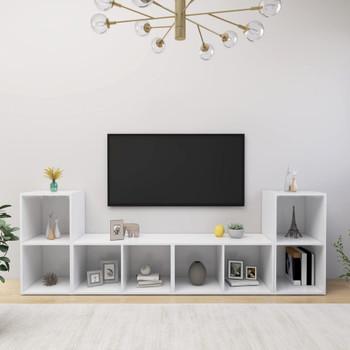 vidaXL TV ormarići 4 kom bijeli 72 x 35 x 36,5 cm od iverice