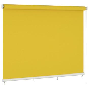 vidaXL Vanjska roleta za zamračivanje 400 x 140 cm žuta