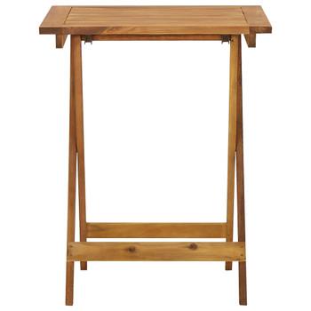 vidaXL Sklopivi vrtni stol 60 x 60 x 75 cm od masivnog bagremovog drva