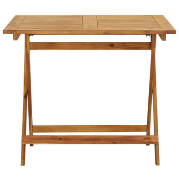 vidaXL Sklopivi vrtni stol 90 x 90 x 75 cm od masivnog bagremovog drva