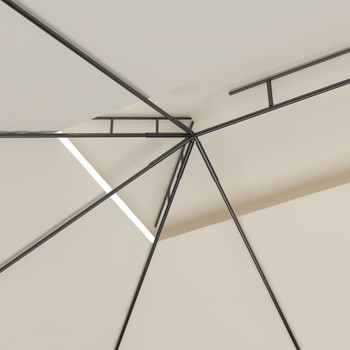 vidaXL Sjenica 4 x 3 x 2,7 m krem 160 g/m²