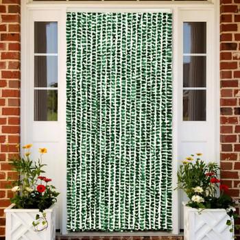 vidaXL Zastor protiv insekata zeleno-bijeli 90 x 220 cm šenil