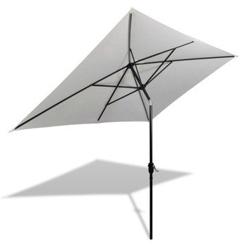 vidaXL Suncobran 200 x 300 cm Pijesak bijela Pravokutni