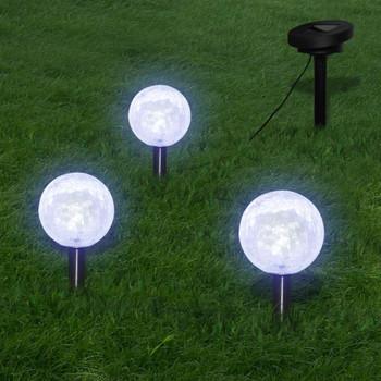 vidaXL Solarna zdjela 3 LED vrtne svjetiljke sa solarnim panelima