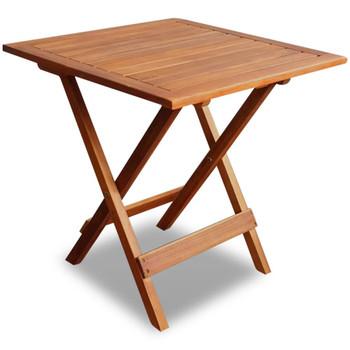 vidaXL Bistro stol 46 x 46 x 47 cm masivno bagremovo drvo