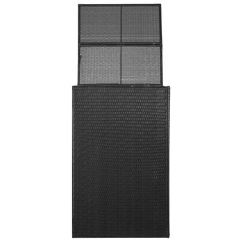 vidaXL Kutija od poliratana za kantu za otpad crna 76 x 78 x 120 cm