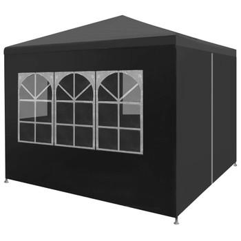 vidaXL Šator za zabave 3 x 3 m antracit