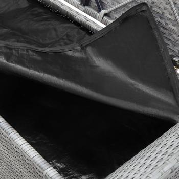 vidaXL Klupa za pohranu s jastukom siva 138 cm od poliratana