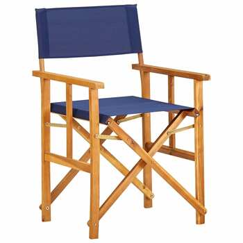 vidaXL Redateljske stolice 2 kom od masivnog bagremovog drva plave