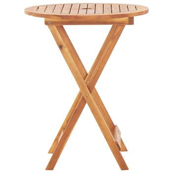 vidaXL Sklopivi vrtni stol od masivnog bagremovog drva 60 x 75 cm