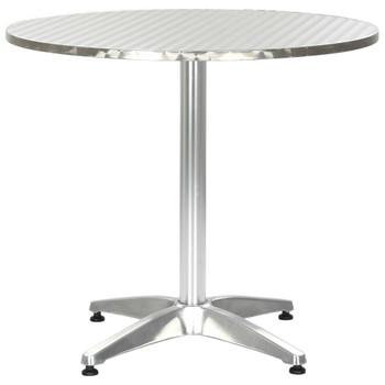 vidaXL Vrtni stol srebrni 80 x 70 cm aluminijski