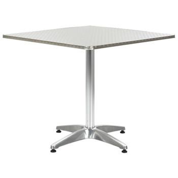 vidaXL Vrtni stol srebrni 80 x 80 x 70 cm aluminijski