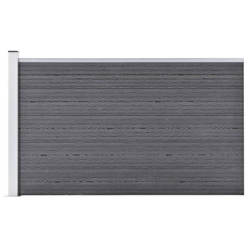 vidaXL Vrtna ograda WPC 175 x 105 cm siva