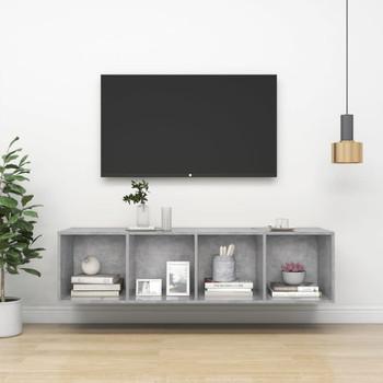vidaXL Zidni TV ormarić siva boja betona 37 x 37 x 142,5 cm od iverice
