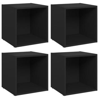 vidaXL TV ormarići 4 kom crni 37 x 35 x 37 cm od iverice
