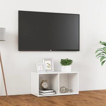 vidaXL TV ormarić visoki sjaj bijeli 72 x 35 x 36,5 cm od iverice