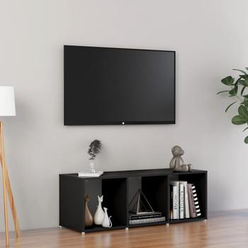 vidaXL TV ormarić crni 107 x 35 x 37 cm od iverice