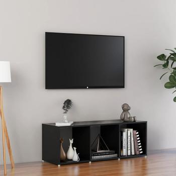 vidaXL TV ormarić visoki sjaj crni 107 x 35 x 37 cm od iverice