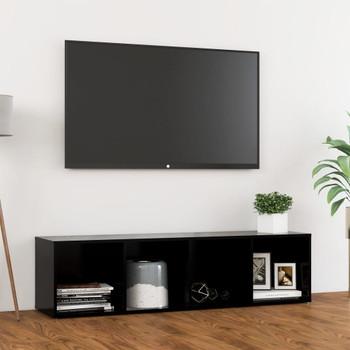 vidaXL TV ormarić crni 142,5 x 35 x 36,5 cm od iverice