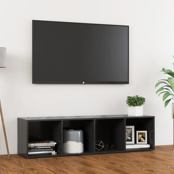 vidaXL TV ormarić sivi 142,5 x 35 x 36,5 cm od iverice