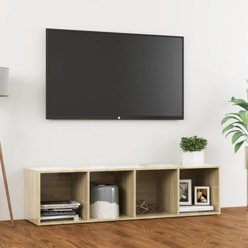 vidaXL TV ormarić boja hrasta sonome 142,5 x 35 x 36,5 cm od iverice
