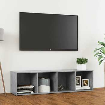 vidaXL TV ormarić siva boja betona 142,5 x 35 x 36,5 cm od iverice