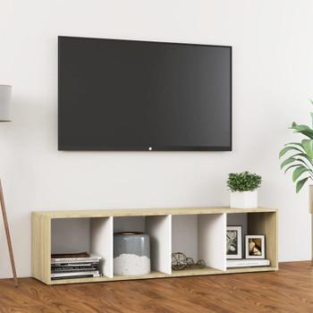 vidaXL TV ormarić bijeli i boja hrasta 142,5 x 35 x 36,5 cm od iverice