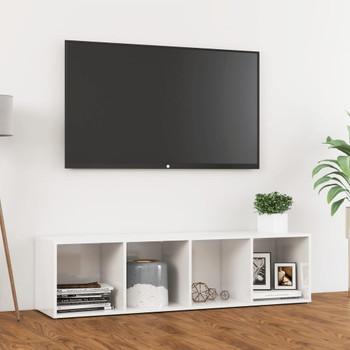 vidaXL TV ormarić visoki sjaj bijeli 142,5 x 35 x 36,5 cm od iverice