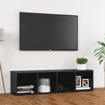 vidaXL TV ormarić visoki sjaj sivi 142,5 x 35 x 36,5 cm od iverice