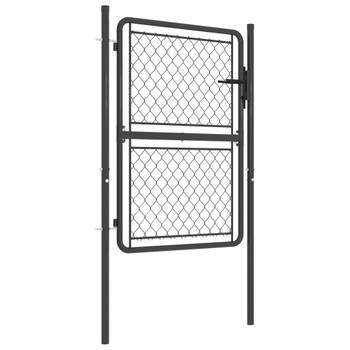 vidaXL Vrtna vrata čelična 100 x 125 cm antracit