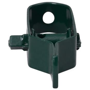 vidaXL Zatezači za žicu za ogradu 5 kom 100 mm čelični zeleni