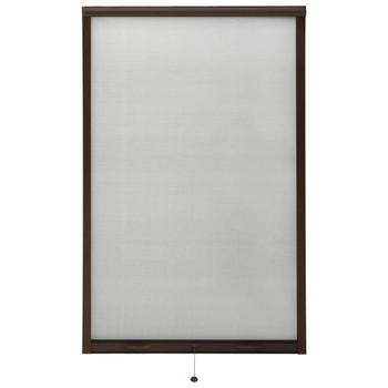 vidaXL Zaslon protiv insekata za prozore smeđi 100 x 170 cm