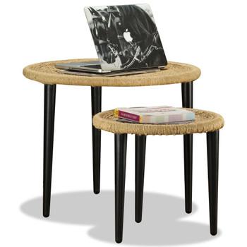 vidaXL 2-dijelni set stolića za kavu od prirodne jute