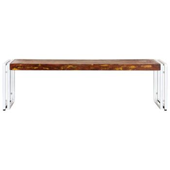 vidaXL Stolić za kavu 120 x 60 x 35 cm od masivnog obnovljenog drva
