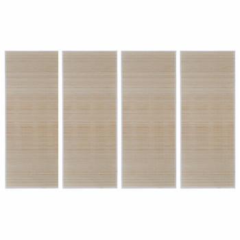 vidaXL Pravokutni tepisi od prirodnog bambusa 4 kom 120 x 180 cm