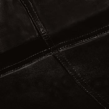 vidaXL Leptir-stolice od prave kože 6 kom crne dječja veličina