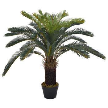 vidaXL Umjetna cikas palma s posudom zelena 90 cm