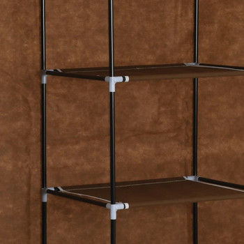 vidaXL Ormar od tkanine s odjeljcima i šipkama smeđi 150 x 45 x 175 cm