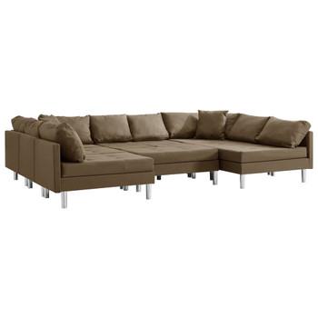 vidaXL Modularna sofa od tkanine smeđa