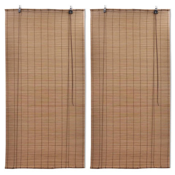 vidaXL Rolete od bambusa 2 kom 80 x 160 cm smeđe
