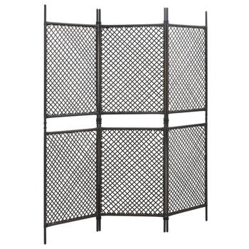 vidaXL Panel za ogradu od poliratana 1,8 x 2 m smeđi