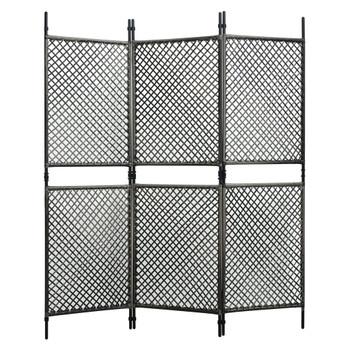 vidaXL Panel za ogradu od poliratana 1,8 x 2 m antracit