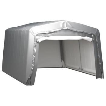 vidaXL Skladišni šator 370 x 370 cm čelični sivi