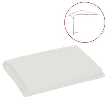 vidaXL Zamjenska tkanina za konzolni suncobran 300 cm pješčano bijela