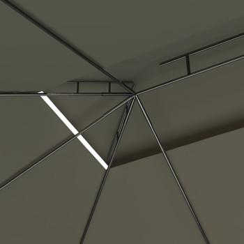 vidaXL Sjenica 4 x 3 x 2,7 m smeđe-siva 160 g/m²