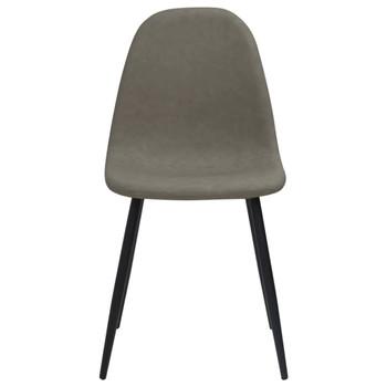 vidaXL Blagovaonske stolice 4 kom 45x54,5x87 cm tamnosive umjetna koža
